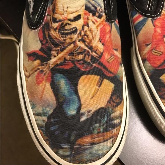 1f3f3cfba82 Rare Iron Maiden Vans